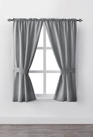 mainstays bennett 63 rod pocket window curtain drapery panel set