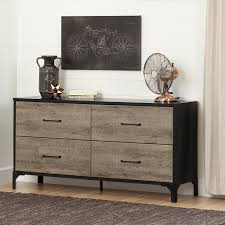 Black Dresser 4 Drawer by Amazon Com South Shore Valet 4 Drawer Double Dresser Weathered