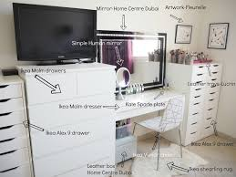 Ikea Malm 6 Drawer Dresser Package Dimensions by My Make Up Storage Vanity Bedroom Tour Expat Make Up Addict