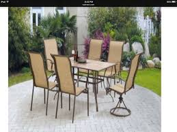 Mainstays Patio Set Red by Amazon Com Mainstays Square Tile 7 Piece Patio Dining Set Seats