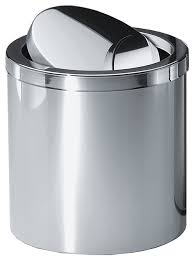 Bathroom Wastebasket With Lid by Dwba Round Stainless Steel Wastebasket Trash Can With Swing Lid