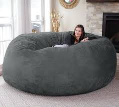 Big Fluffy Bean Bag Chairs Terior Couch Ebay