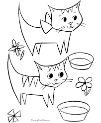 Free Printable Kid Coloring Page Of Cats
