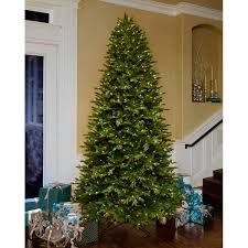 Slim Pre Lit Christmas Trees by 9 U0027 Artificial Aspen Fir Pre Lit Christmas Tree