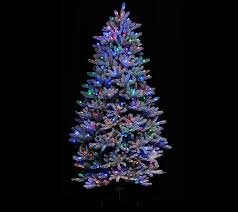7ft Christmas Tree Amazon by Santa U0027s Best 6 5 U0027 Rgb 2 0 Flocked Balsam Fir Christmas Tree Page