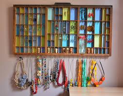 DIY Printers Tray Jewelry Display
