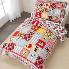 Fire Truck Toddler Bedding Set - KidKraft