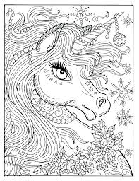 Unicorn Printable Coloring Page Flying