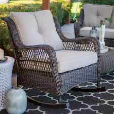 Belham Living Montauk Resin Wicker Outdoor Rocking Chair With Cushions