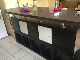 tables ikea cuisine table de bar avec kallax bidouilles ikea plan travail cuisine