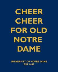 Notre Dame Pumpkin Stencil Print Out by Cheer Cheer For Old Notre Dame Notre Dame Fighting Irish