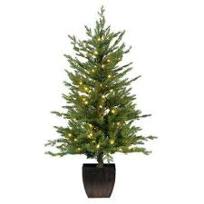 4 Ft Pre Lit Christmas Tree by Home Accents Holiday Pre Lit Christmas Trees Artificial