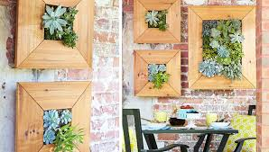 Wall Mounted Succulent Planter Within Framed Art Prepare