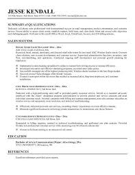 Resume Examples Summary Example Good With