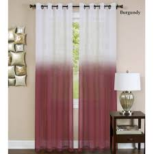 Sheer Curtain Panels With Grommets by Essence Semi Sheer Ombre Grommet Curtain Panels
