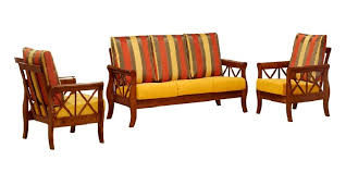 Info Wooden Sofa Set With Cushion
