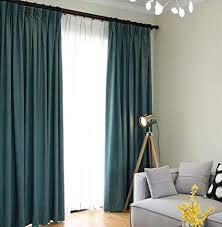 naturer gardinen blickdicht kräuselband 2er set petrol 140x145 kurz thermo vorhänge verdunkelnd verdunkelungsvorhang modern schlafzimmer wohnzimmer
