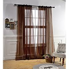 Blue Crushed Voile Curtains by Amazon Com No 918 Erica Crushed Texture Sheer Voile Curtain