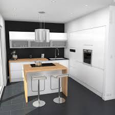 cuisine uip pas cher avec electromenager cuisine sans poignée blanche brillante au design épuré implantation