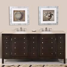 Antique Bathroom Vanity Double Sink by 72 U201d Perfecta Pa 5126 Bathroom Vanity Double Sink Cabinet Dark