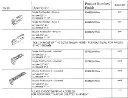 Decorative Curtain Rod Bracket Projection Extender by Standard White Traverse Rod Parts Brackets Supports U0026 Pin On Hooks Etc