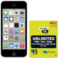 Straight Talk Apple iPhone 5 16GB White Refurbished Prepaid