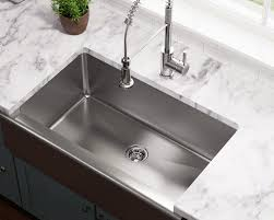 Stainless Overmount Farmhouse Sink by Stainless Steel Sinks And Faucets For Kitchens And Baths