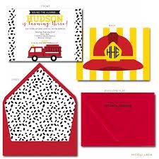 Firetruck Birthday Invitation Template Fire Truck Walmart Envelopes ...