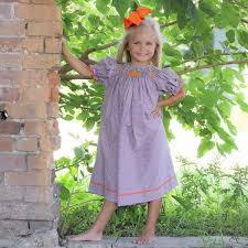 Bishops Pumpkin Patch by Smocked Pumpkin Patch Bishop Brown Gingham Smocked Auctions