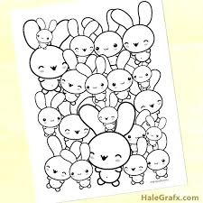 Kawaii Coloring Pages Book With Fresh Fee Printable Bunny Page For