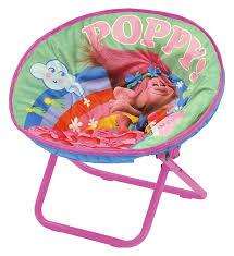 amazon com dreamworks trolls toddler saucer chair toys games
