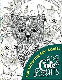 Cute Cats Adult Coloring Books Volume 1
