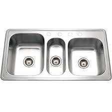Eljer Stainless Steel Sinks by Kitchen Sink Triple Bowl Amazon Com