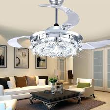 Led Ceiling Fans Crystal Light Dining Room Living Fan Lights