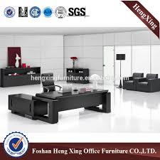 luxe conception noir en bois bureau de direction hx 5de367 id