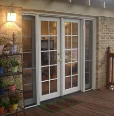 French Patio Doors Outswing by Classic Clad French Door With Operating Sidelites And Simulated