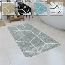 badematte kurzflor teppich badezimmer karo rauten