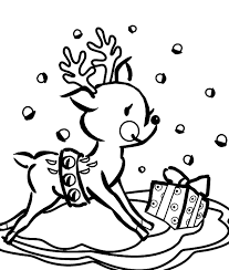 Full Size Of Holidaychristmas Reindeer Coloring Sheet Silhouette Mix Christmas