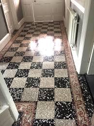 Best Terrazzo Floors For Cozy Interior Flooring Design Ideas Interesting Black And White