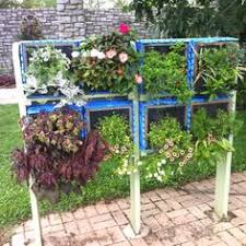 Vertical Planter Using Milk Crates