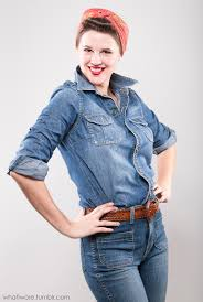Rosie The Riveter Halloween Tutorial by Homemade Halloween Rosie The Riveter On What I Wore