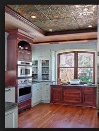 house kitchen makeover tin ceiling tile paint pendant