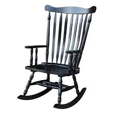 Colonial Antique Black Rocking Chair - 28