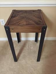 diy pallet chevron end table with metal legs wooden pallet furniture