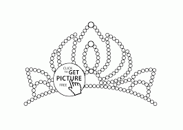 Adult Little Tiara Coloring Page For Girls Printable Coloing Princess Crown Pages