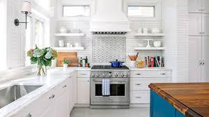 White And Blue Kitchen Makeover
