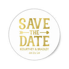 FAUX GOLD FOIL SAVE THE DATE