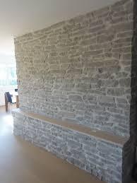 wohnwand stein optik lajas gris naturstein wandverkleidung