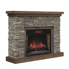 Decor Flame Infrared Electric Stove by Shop Chimney Free 54 In W 5200 Btu Brown Ash Wood Veneer Infrared