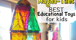 Valtech Magna Tiles Clear Colours 100 Pack by Learn With Play At Home Best Educational Toys For Kids Magna Tiles